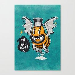 Cartoon Monster I'll Bee Bat Canvas Print