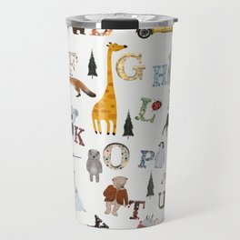 little nature alphabet Travel Mug