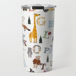 little nature alphabet Travel Mug