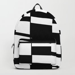 Slanting Rectangles - Black and White Graphic Art by Menega Sabidussi Backpack