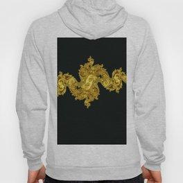 golden dragon on black Hoody