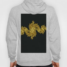 golden dragon on black Hoody