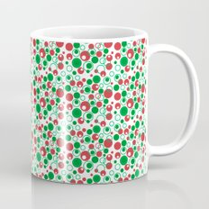 Circle Pattern Holiday Red Green and White Coffee Mug