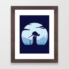 Grey Wolf Sif (Dark Souls) Framed Art Print