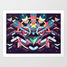 BirdMask Visuals - Peacock Art Print