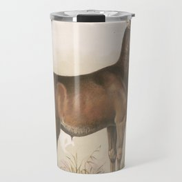 Vintage Illustration of a Round Horned Elk (1872) Travel Mug