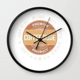 Coffee Dude Barista Coffee Roaster Worker Brewer Wall Clock