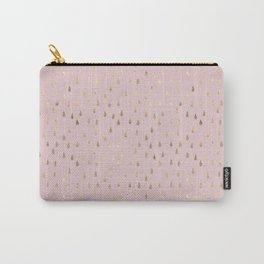 Rose gold pink Modern Art deco pattern Carry-All Pouch