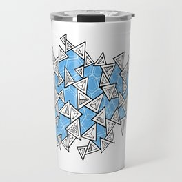 Triangles and Tessellation in Blue Travel Mug
