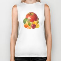 fruit Biker Tanks featuring Fruit by Bo Derks