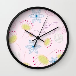 Floral 6 Wall Clock