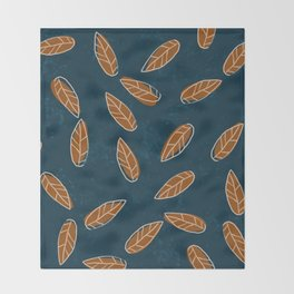 Floating leaves Throw Blanket