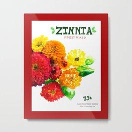 Zinnia Metal Print
