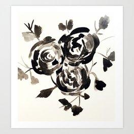Noir Rose.  Art Print