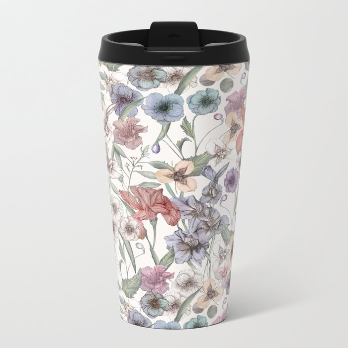 Magical Floral  Metal Travel Mug