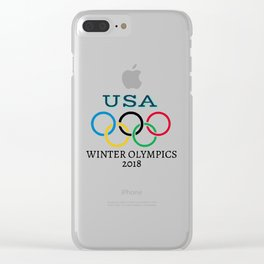Winter Olympics 2018 Clear iPhone Case
