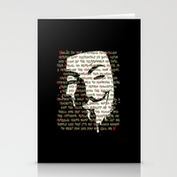 vendetta Stationery Cards featuring Vendetta 1.0 by Sberla
