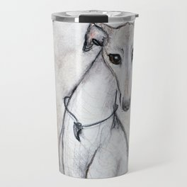 The Greyhound Wearing His Thorn Travel Mug