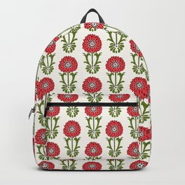 Dot Floral in Red Backpack