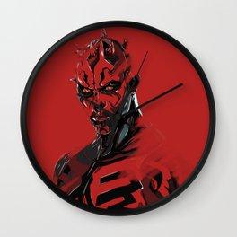 Darth Maul Sith digital art print. Wall Clock