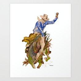 Ride em Cowboy by Peter Melonas Art Print
