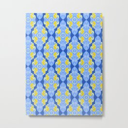 Patterns: Yellow Sages Metal Print