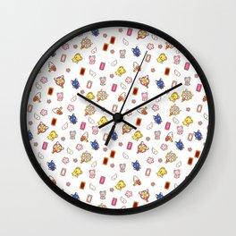 cardcaptor sakura cute stuff pattern Wall Clock