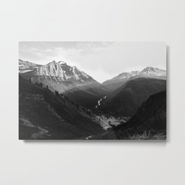 Chasing the Daylight in Glacier Metal Print