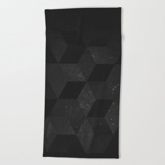 Fade to Black Beach Towel