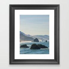 Haystack Rock from Crescent Point Framed Art Print
