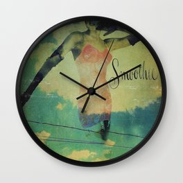 Smoothie Girdle Pin Up Girl Wall Clock