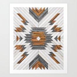 Urban Tribal Pattern 8 - Aztec - Wood Art Print