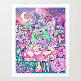 Iridescent Moonlight Art Print