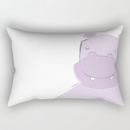 Hippopotamus Rectangular Pillow