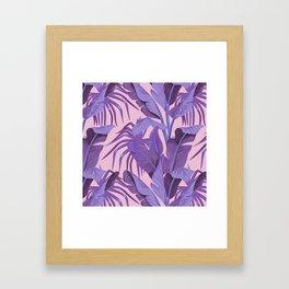 Tropical '17 - Starling [Banana Leaves] Framed Art Print
