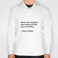 oscar wilde Hoodies featuring Oscar Wilde on Love by Quotevetica