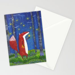Star Forest - Fox Stationery Cards