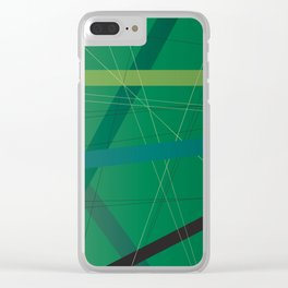 Foliage Criss Cross Clear iPhone Case