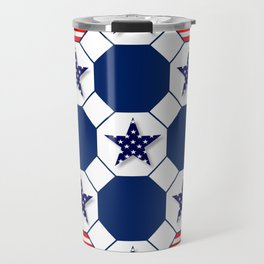 Nautical Patriotic Hexagons Travel Mug