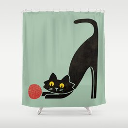 Fitz - the curious cat Shower Curtain