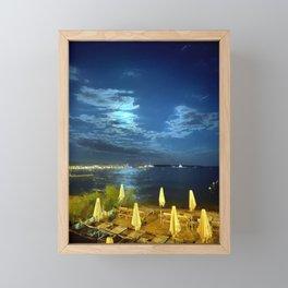 Silent Night in Monaco Framed Mini Art Print