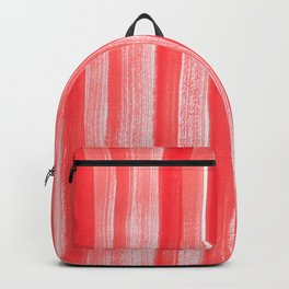 Orange Brush Strokes Backpack