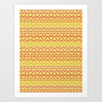 AZTEC pattern 1-1 Art Print