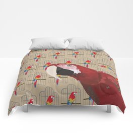 The Ara Parrot Gallery Giftshop Comforters