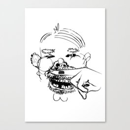 This man is a joke Canvas Print