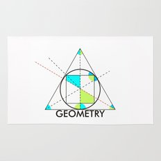geometry mathematics trigonometry shapes text Rug