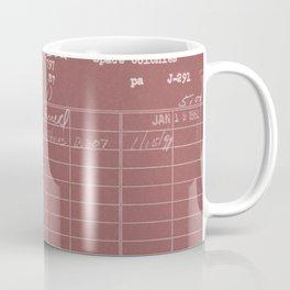 Library Card 797 Negative Red Coffee Mug