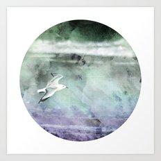 Stormy Flight Art Print
