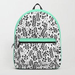 Wistful Floral - Black Backpack