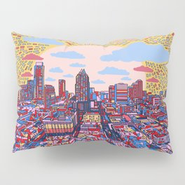 austin texas city skyline Pillow Sham